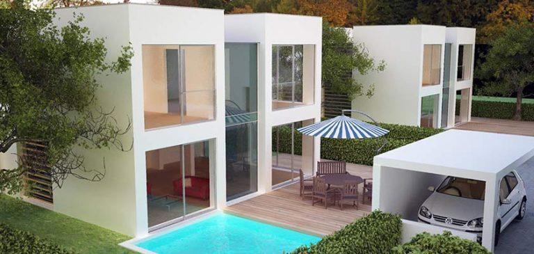 Referenzhaus mit Garten und Pool