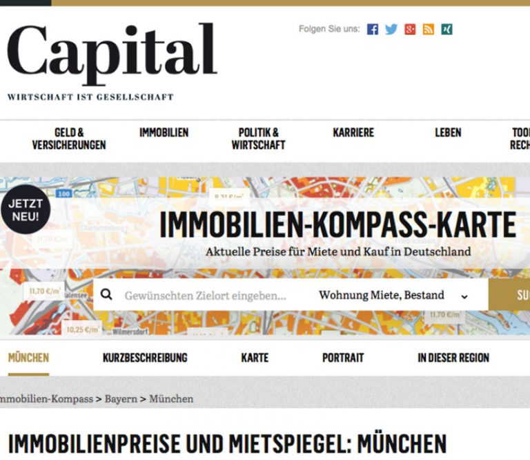 Artikel in der Capital zu Immobilienpreisen