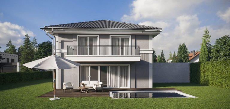 Beispielhaus mit Garten